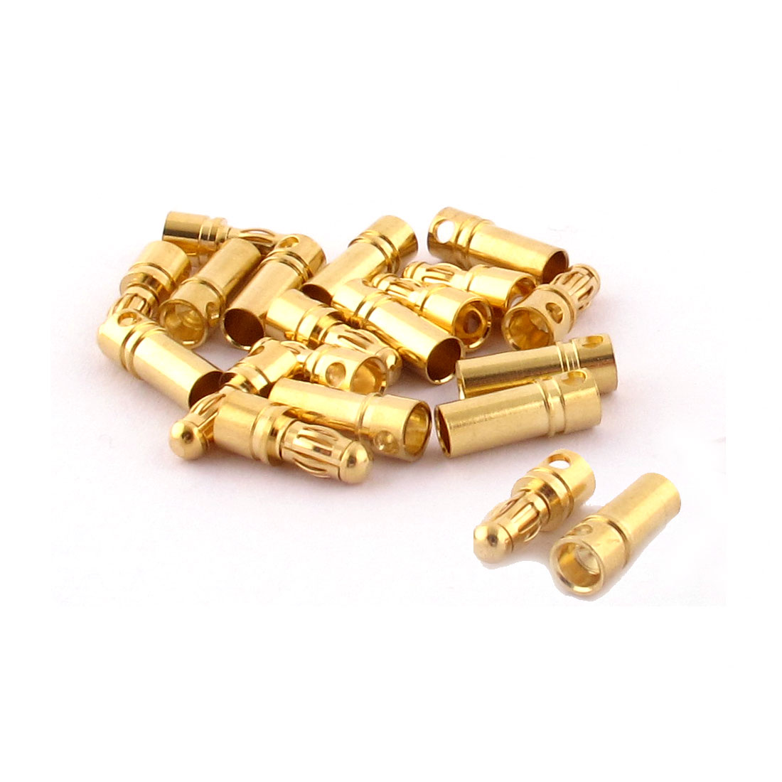 RC Motor ESC Battery 3.5mm Male Female Banana Connector Gold Tone 10 Pairs