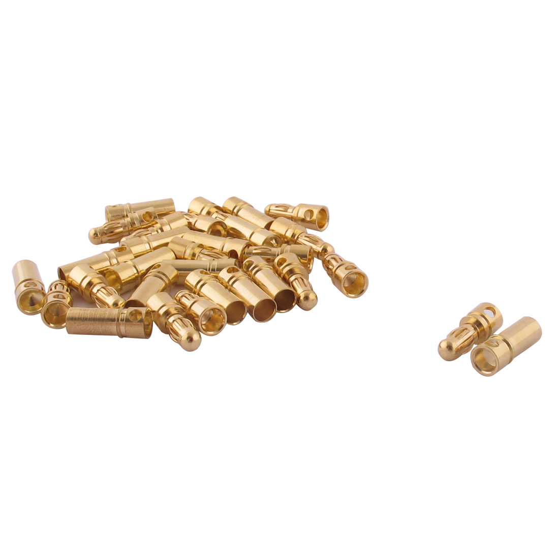 RC Motor ESC Battery 3.5mm Male Female Banana Connector Gold Tone 15 Pairs