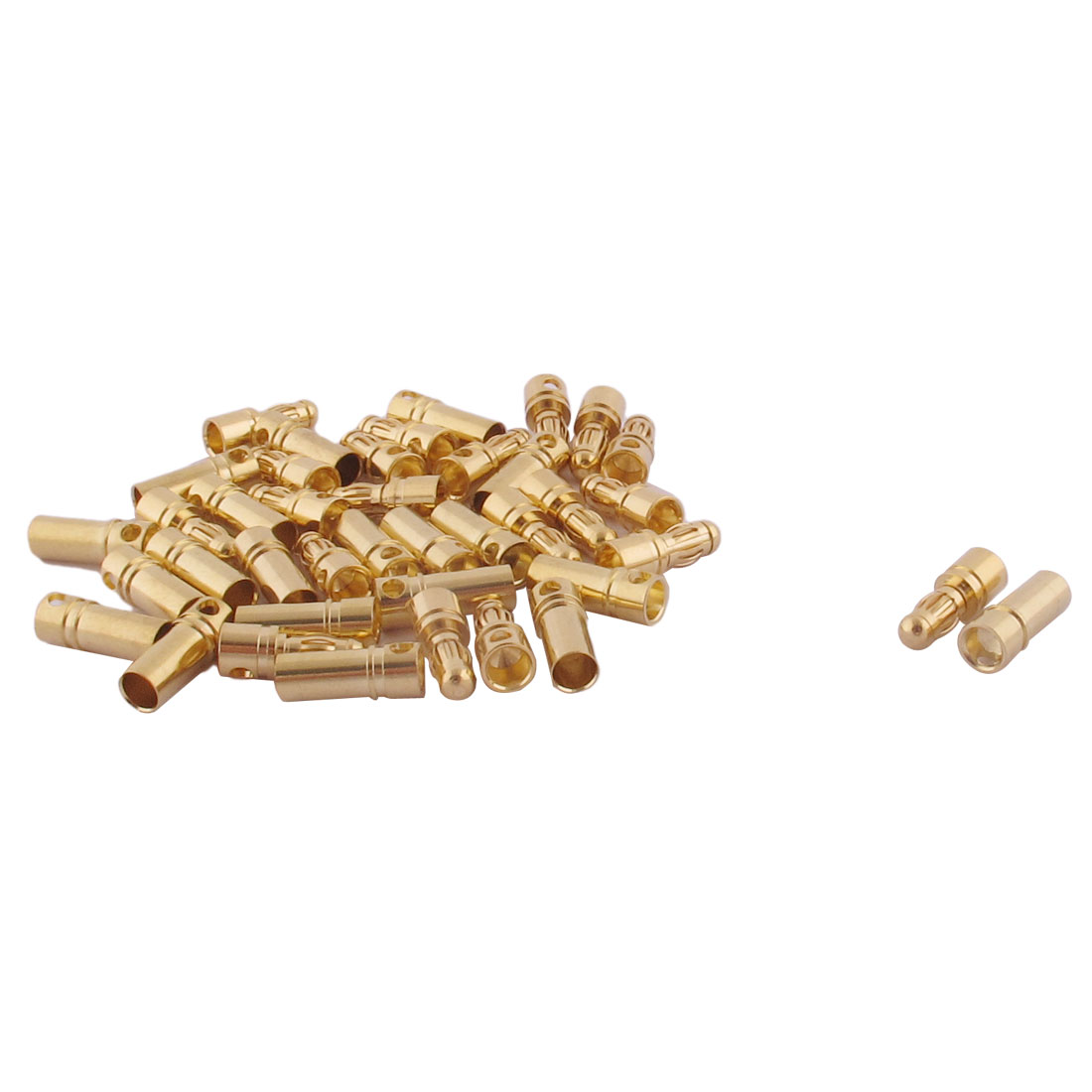 RC Motor ESC Battery 3.5mm Male Female Banana Connector Gold Tone 20 Pairs