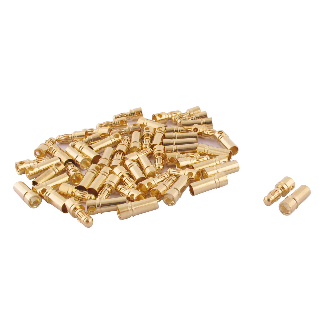 RC Motor ESC Battery 3.5mm Male Female Banana Connector Gold Tone 30 Pairs