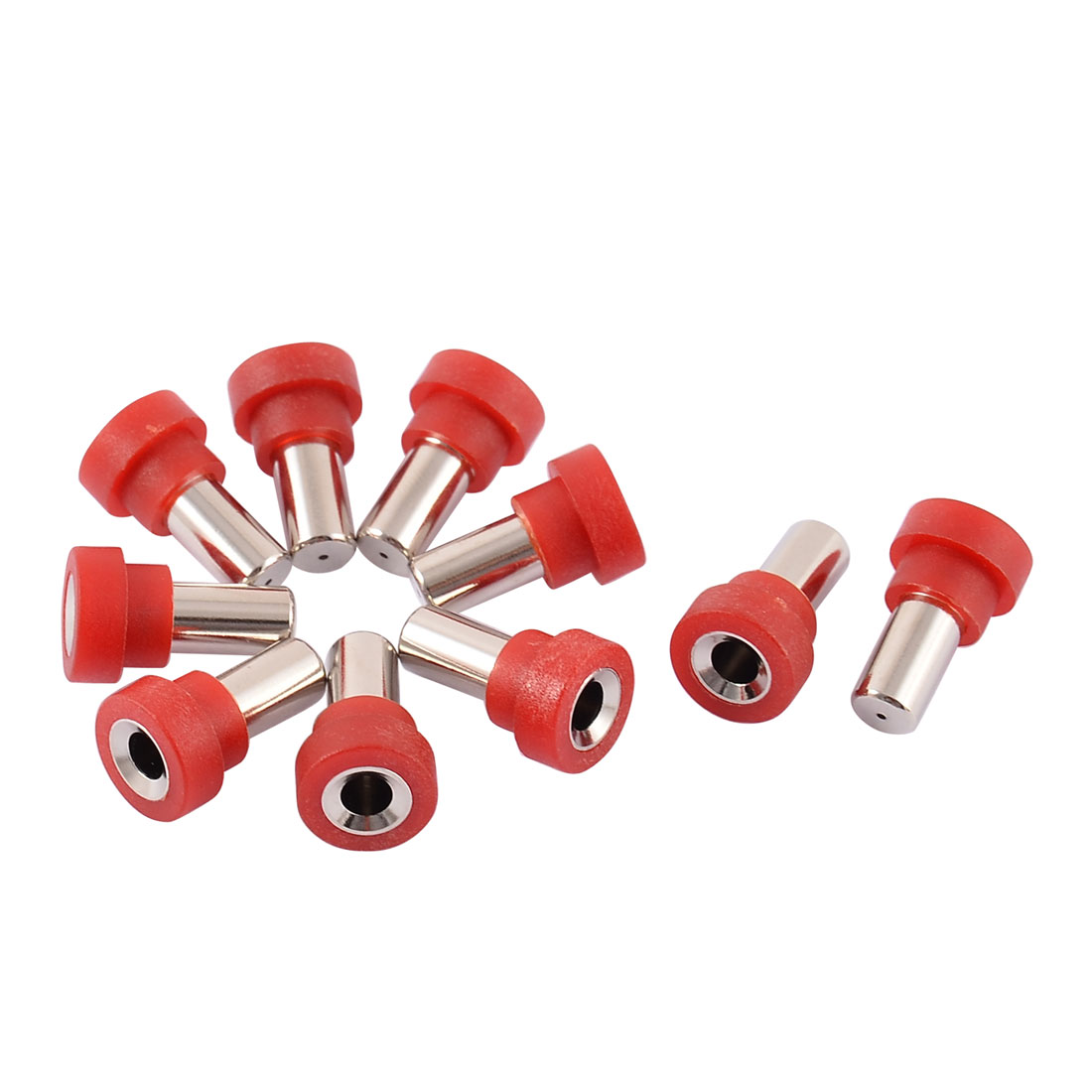 10pcs 4mm Red Banana Female Socket Speaker Cord Cable Coupler Adapter for RC Airplane