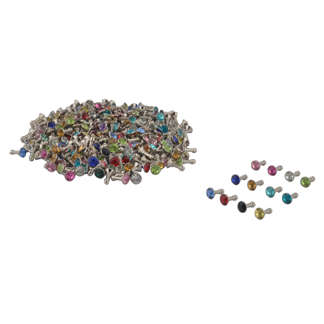 Faux Rhinestone Decor Cell Phone Earphone Jack Anti Dust Ear Cap Assorted Color 300pcs