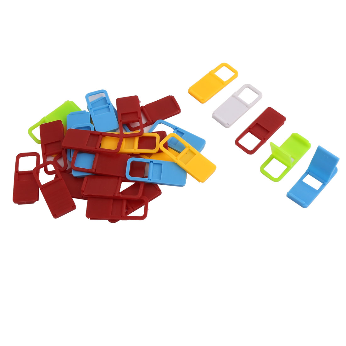 Plastic Foldable Mini Mobile Cell Phone Desk Stand Holder Assorted Color 30pcs