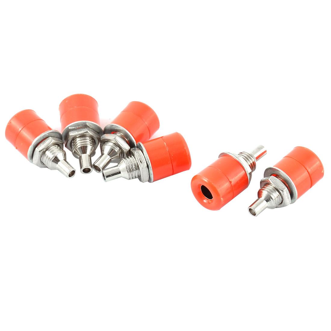 6pcs Red Plastic Shell Speaker Amplifier 4mm Banana Binding Post Socket Coupler