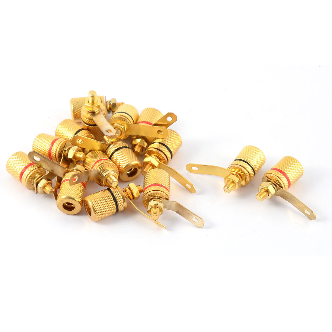 15pcs Audio Amplifier Terminal 4mm Female Banana Binding Post Socket Coupler Apapter