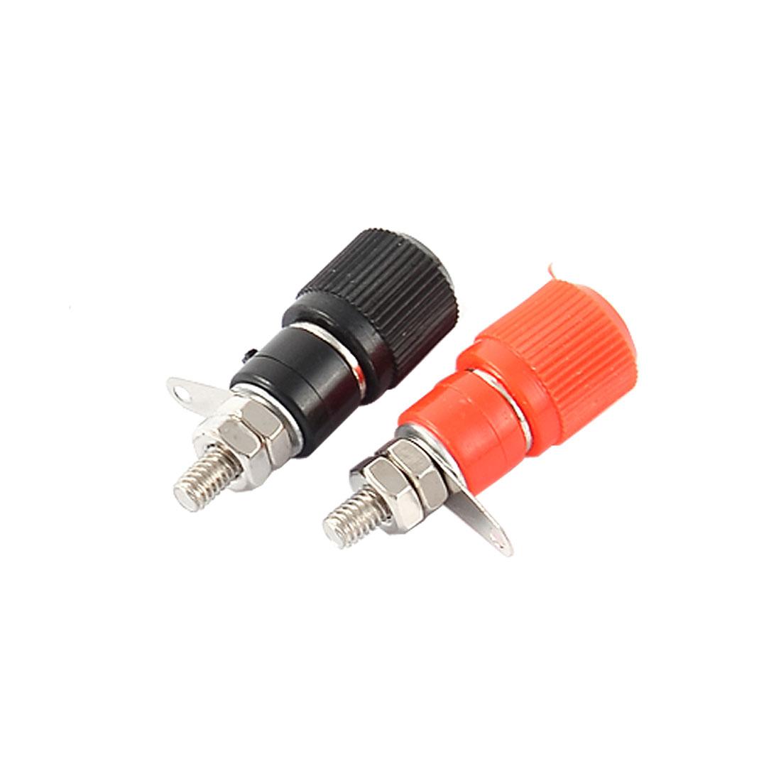 2pcs Black Red Speaker Cable Terminal Amplifier 4mm Banana Connector Socket Binding Post