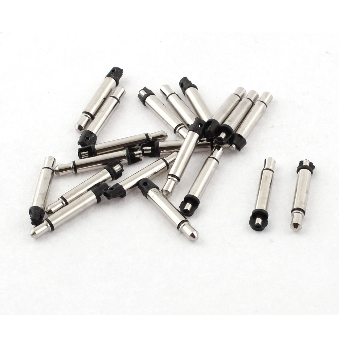 Mono Audio Earphone 3.5mm Male Jack Soldering Connector Black 20pcs
