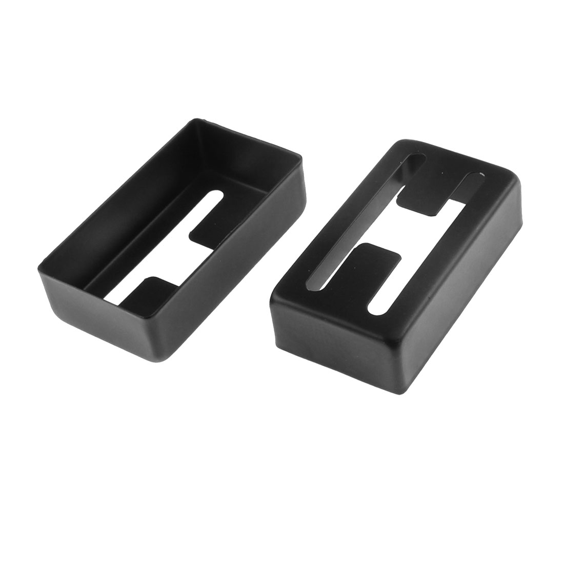 7cm x 4cm x 2cm Electric Guitar Humbucker Pickup Metal Cover Black 2pcs