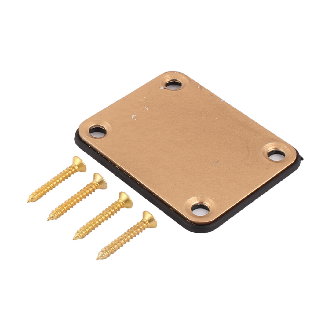 67mm x 55mm x 4mm Rectangular Replacement Electric Guitar Neck Plate Gold Tone