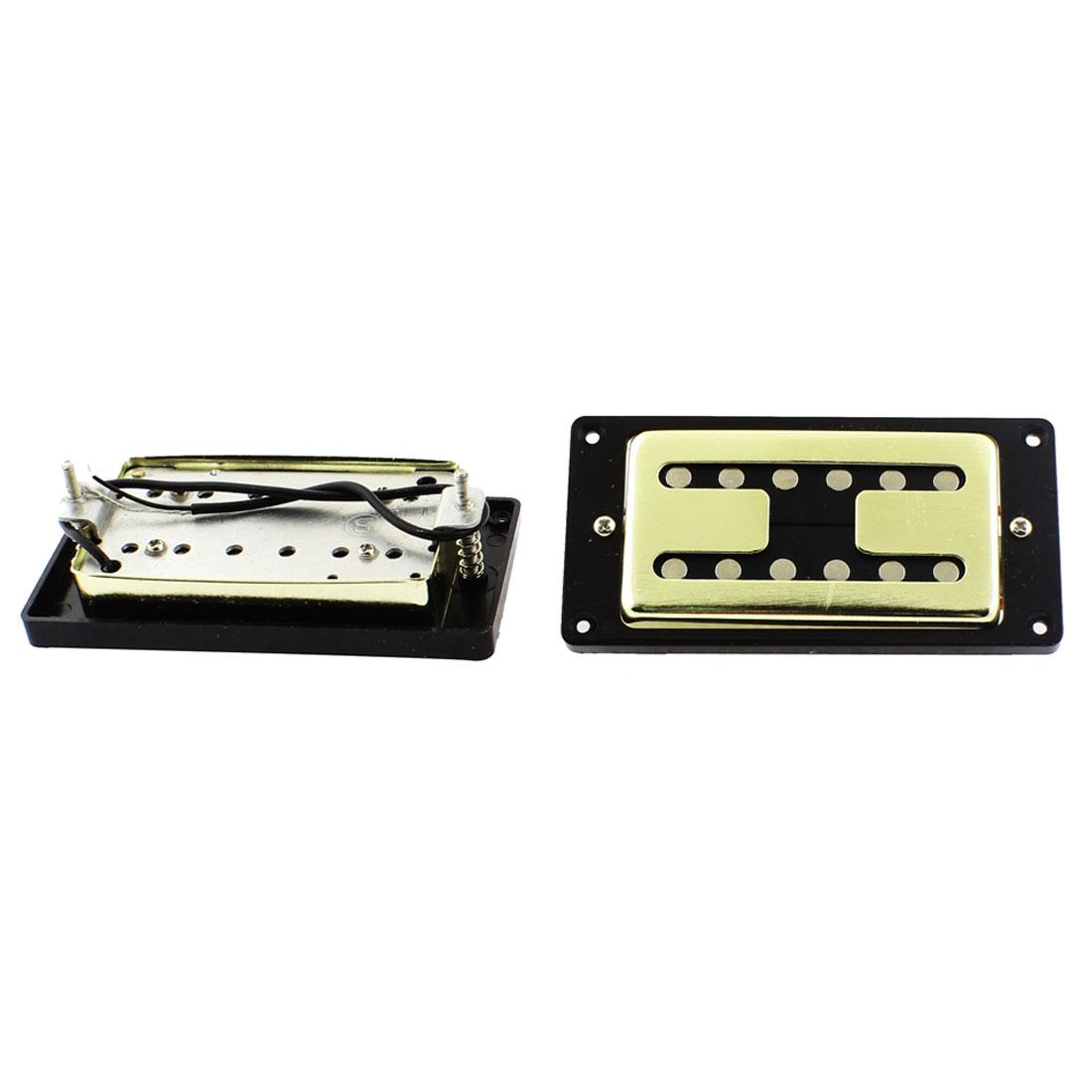 Electric Guitar LP Style Neck Bridge Double Row Humbucker Pickup Gold Tone 2pcs