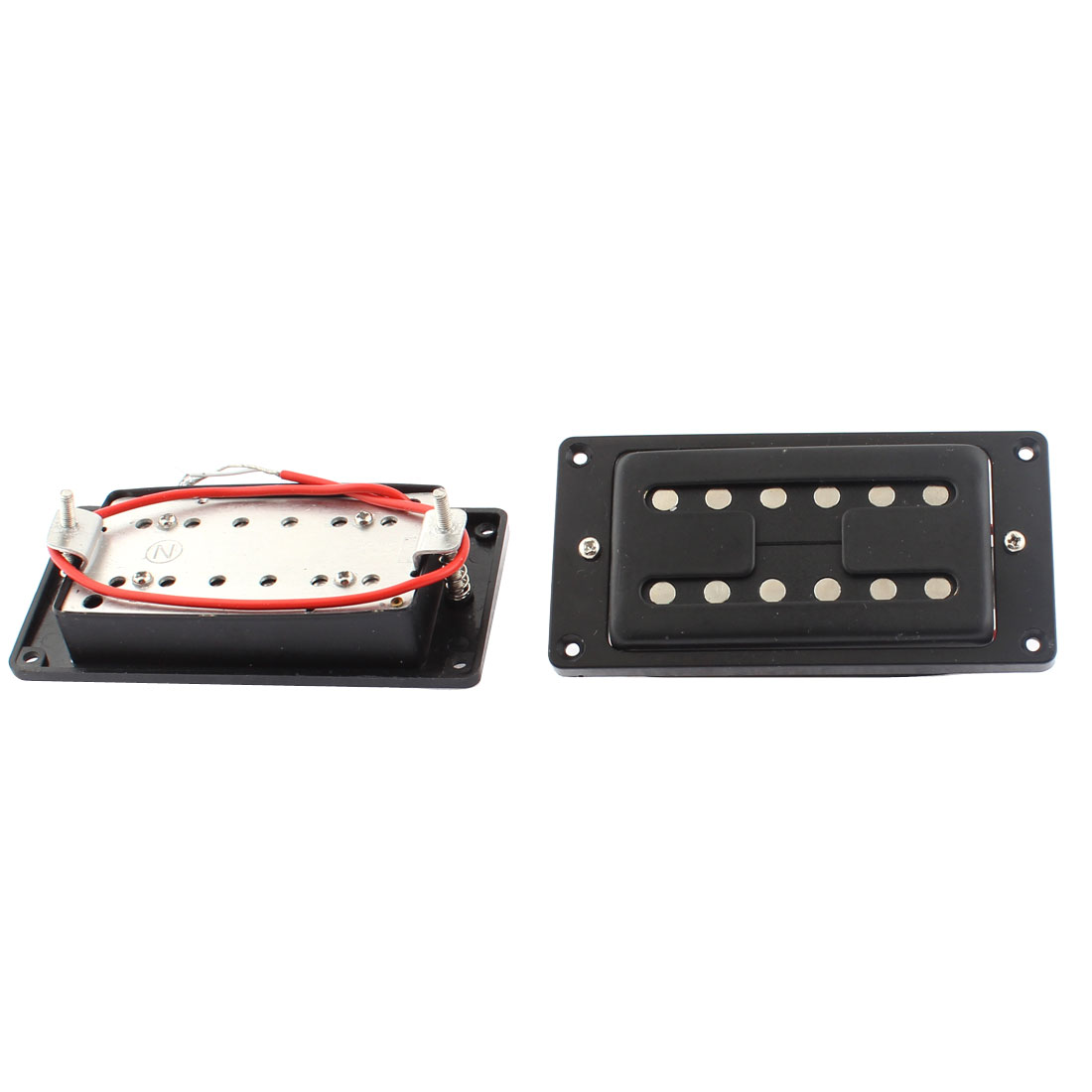 Electric Guitar LP Style Neck Bridge Double Row Humbucker Pickup Black 2pcs