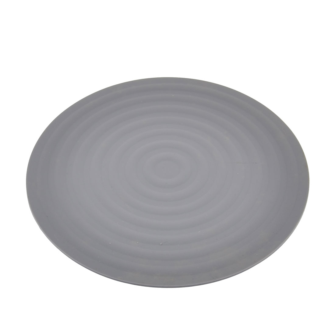 kitchen Rubber Round Shaped Nonslip Heat Resistant Pot Mat Pad Holder Gray