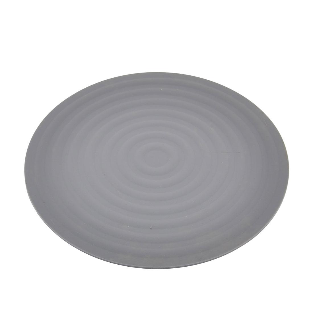 kitchen Rubber Round Shaped Nonslip Heat Resistant Pot Mat Pad Holder Gray