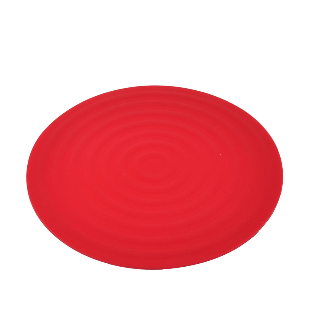 kitchen Pan Pot Bowl Rubber Round Shaped Heat Insulation Mat Pad Holder Red