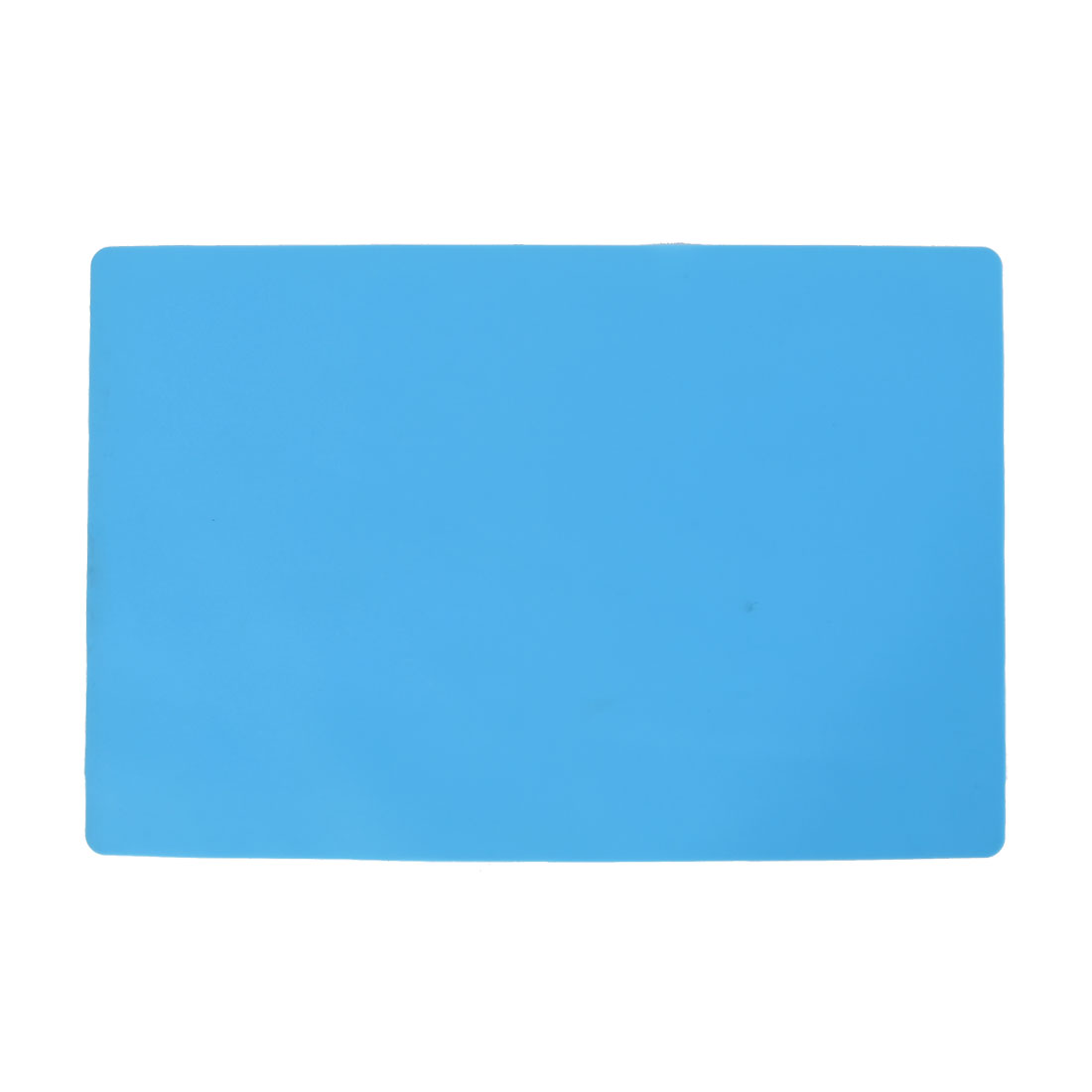 Kitchen Bakery Rubber Regatangle Shape Heat Insulation Pad Placemat Mat Blue