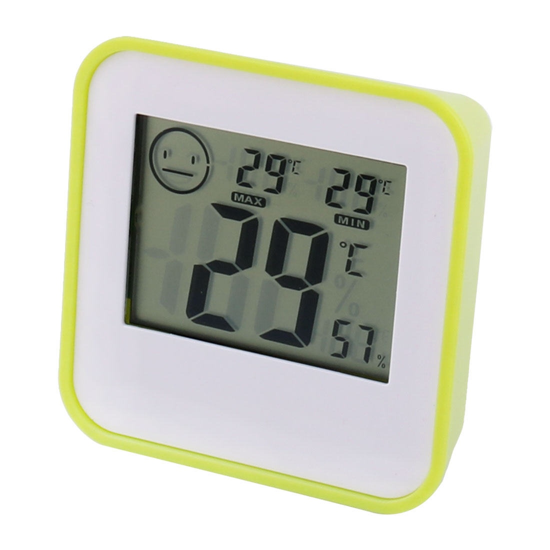 Home Plastic Rectangle Shaped Temperature Humidity Digital Thermometer