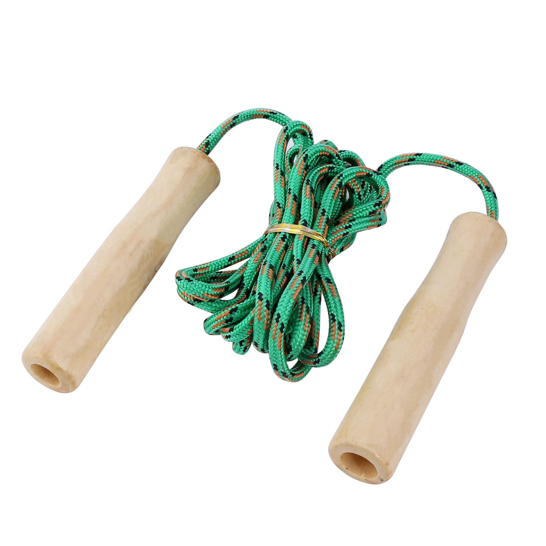 Fitness Exercise Wooden Handle Skipping Jumping Rope 8.5ft Length