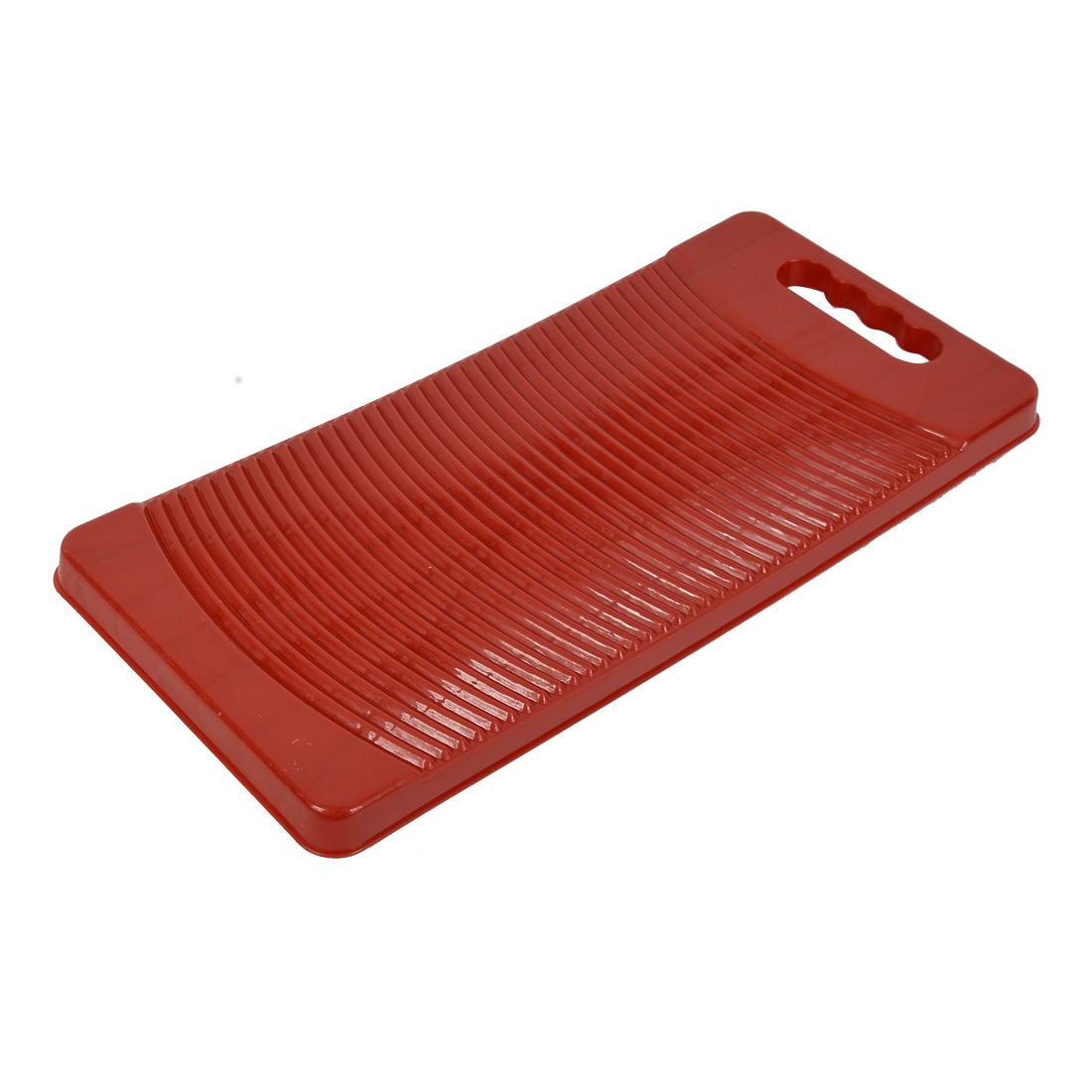 Home Plastic Rectangle Washboard Clothes Washing Board Red 49cm Length