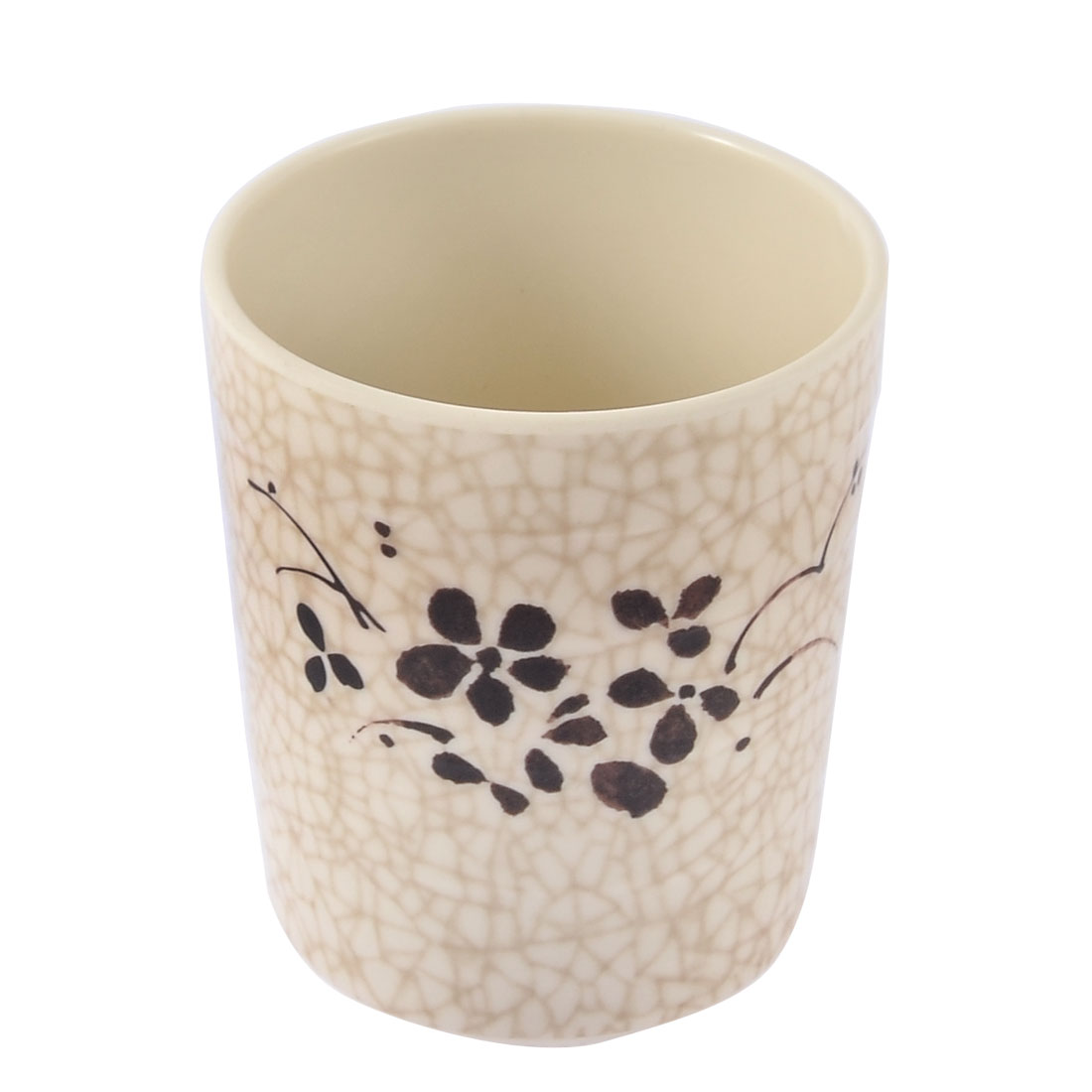 Home Restaurant Plastic Flower Pattern Water Tea Beer Drinking Cup Bottle