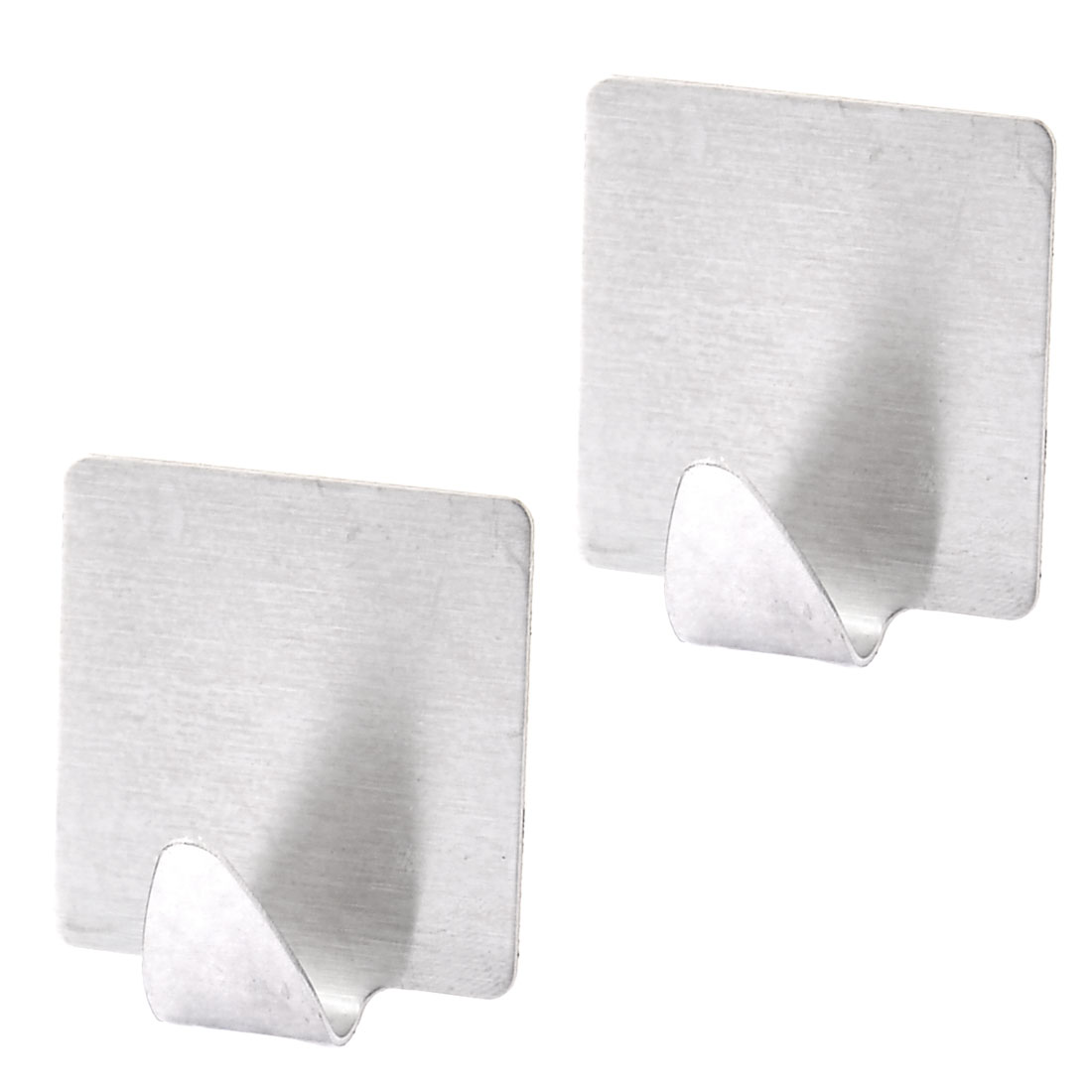 Home Kitchen Wall Door Window Metal Self-adhesive Sticky Hook Holder 2pcs