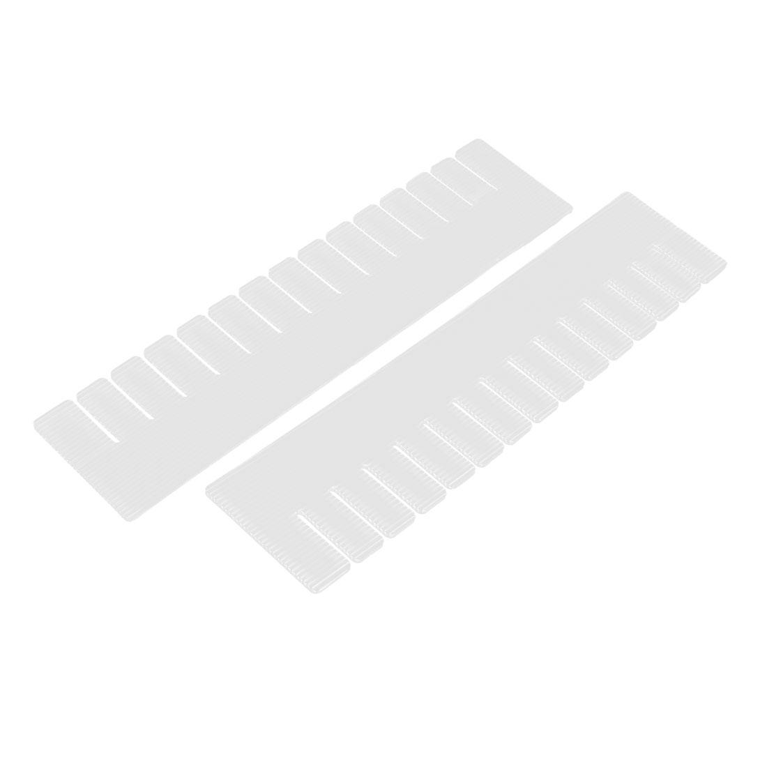 Plastic Adjustable Clothes Storage Box Drawer Divider Board Organizer White