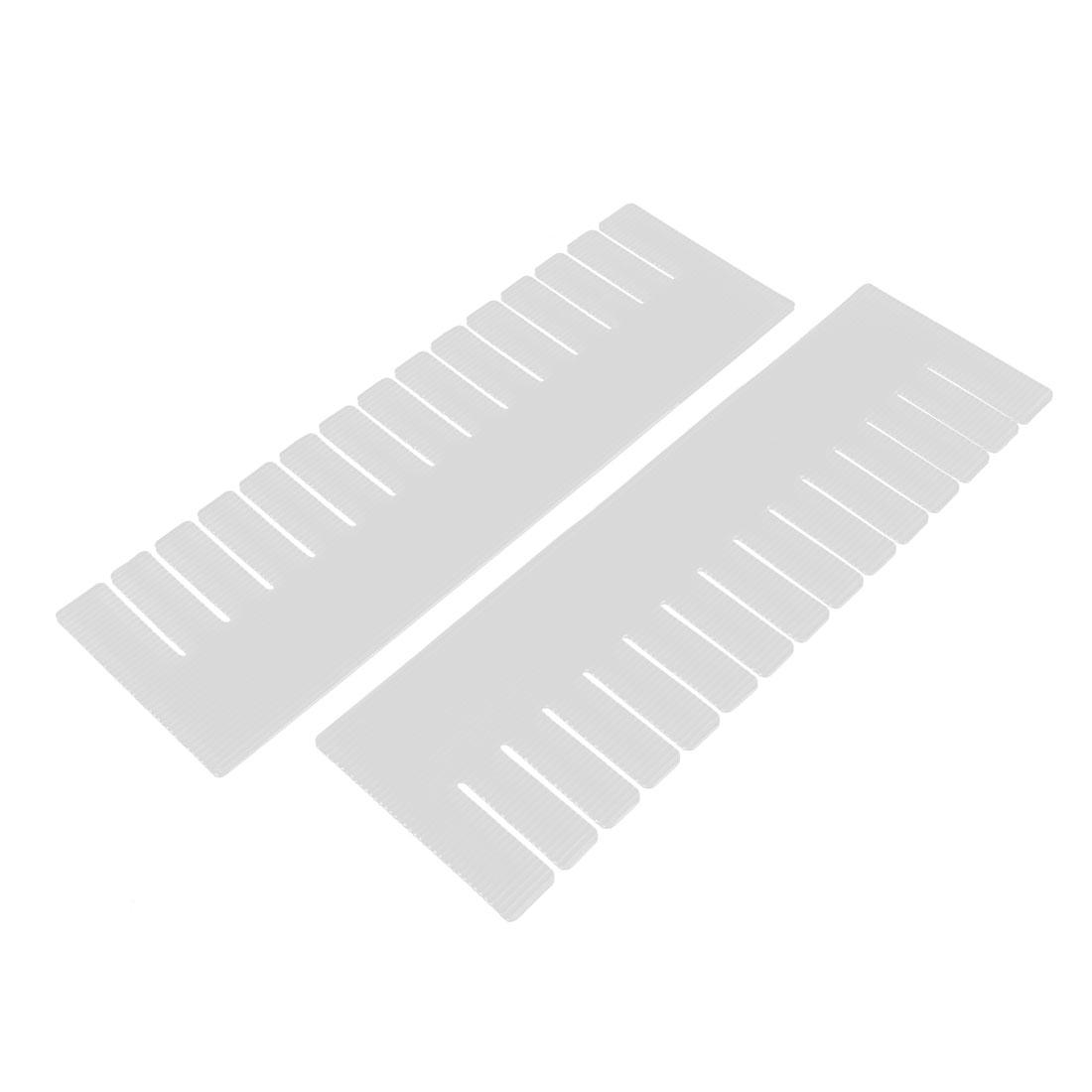 Plastic DIY Grid Drawer Divider Household Necessities Storage 2 Pcs
