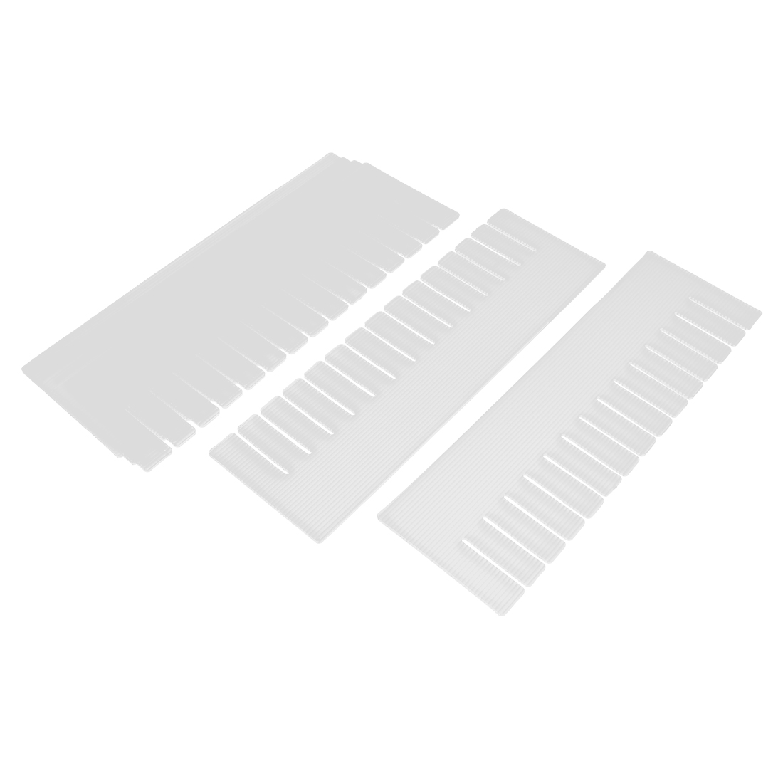 Plastic DIY Grid Drawer Divider Household Necessities Storage Off White 6 Pcs