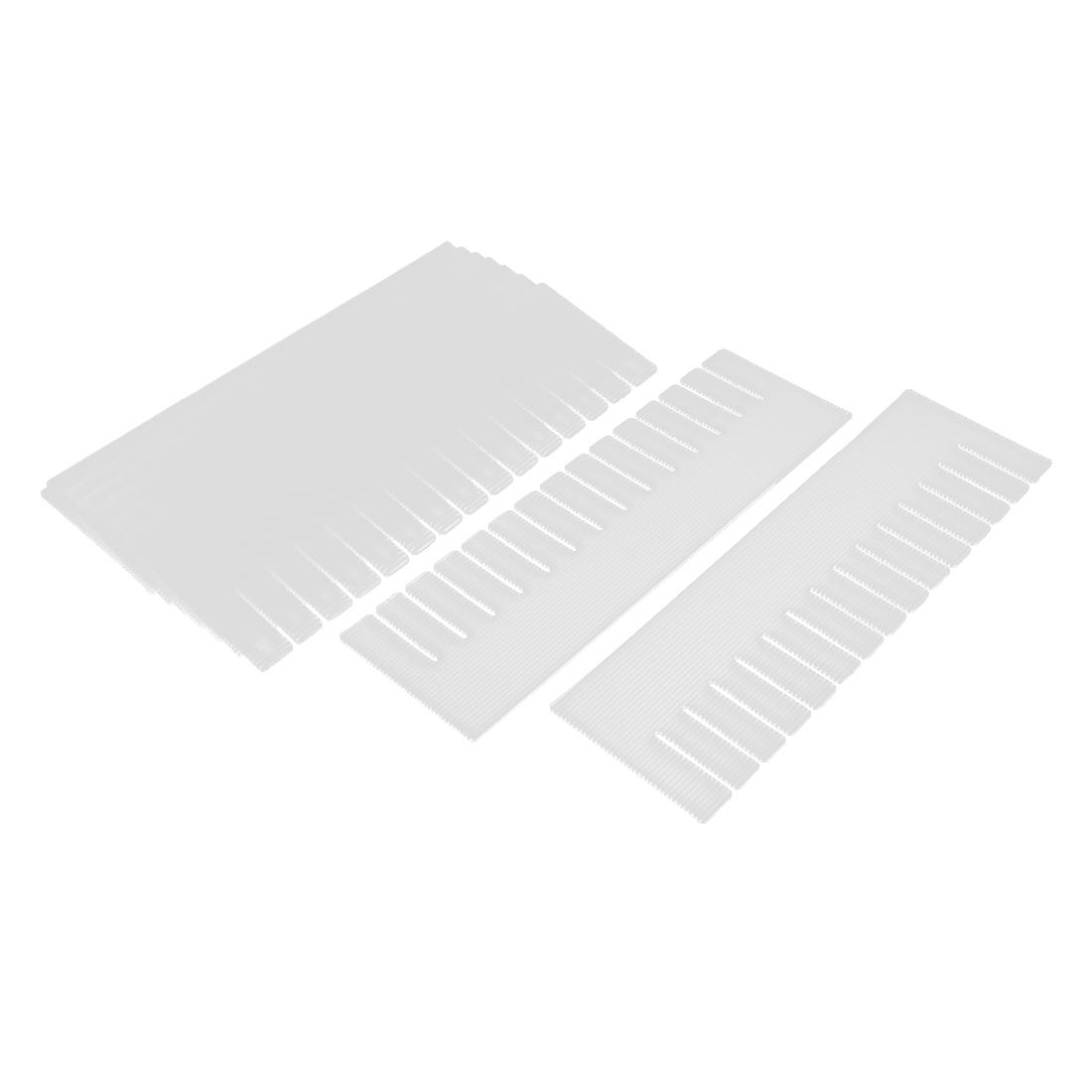 Plastic DIY Grid Drawer Divider Household Necessities Storage Off White 10 Pcs