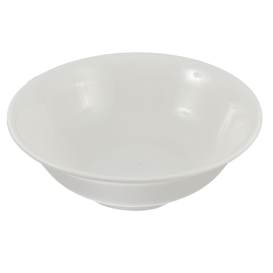 Household Kitchen Plastic Soup Porridge Food Noodle Rice Bowl White 20cm Dia