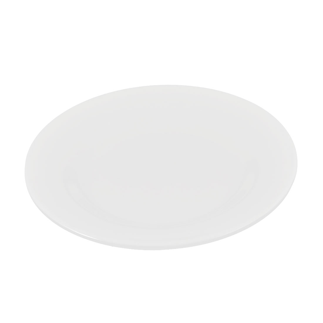 """Plastic Round Shaped Fruit Candy Food Dish Plate Tray Container White 6"""" Dia"""