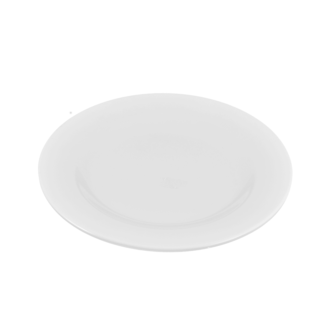 Restaurant Plastic Round Shaped Dish Plate Tray Container White 20cm Dia