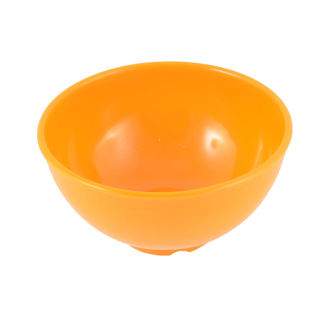 Household Kitchen Plastic Soup Porridge Food Rice Bowl Orange 11.5cm Dia