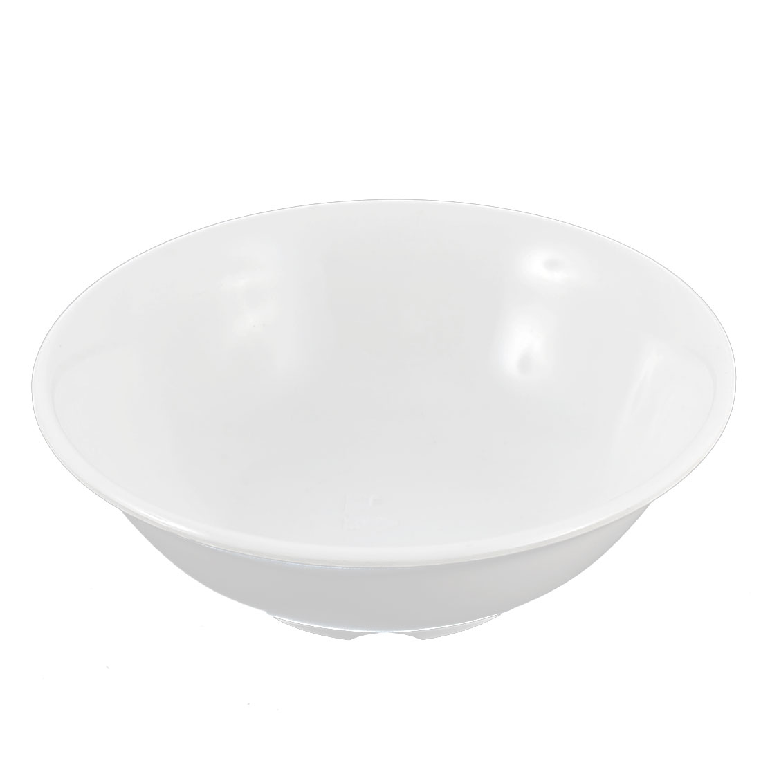 Household Kitchen Plastic Soup Porridge Food Noodle Rice Bowl White 15cm Dia