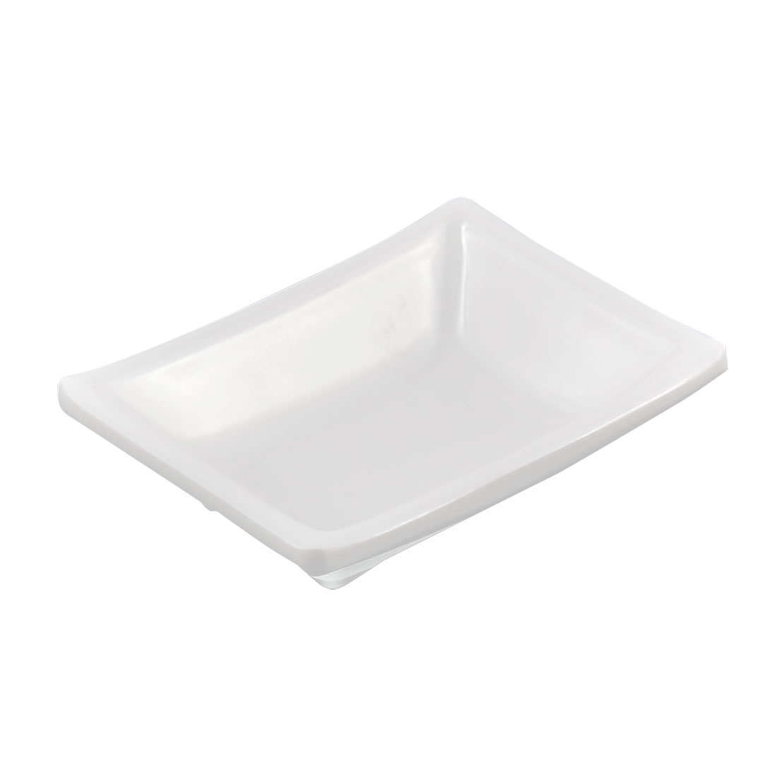 Plastic Sushi Soy Sauce Wasabi Condiment Serving Dipping Dish Plate White