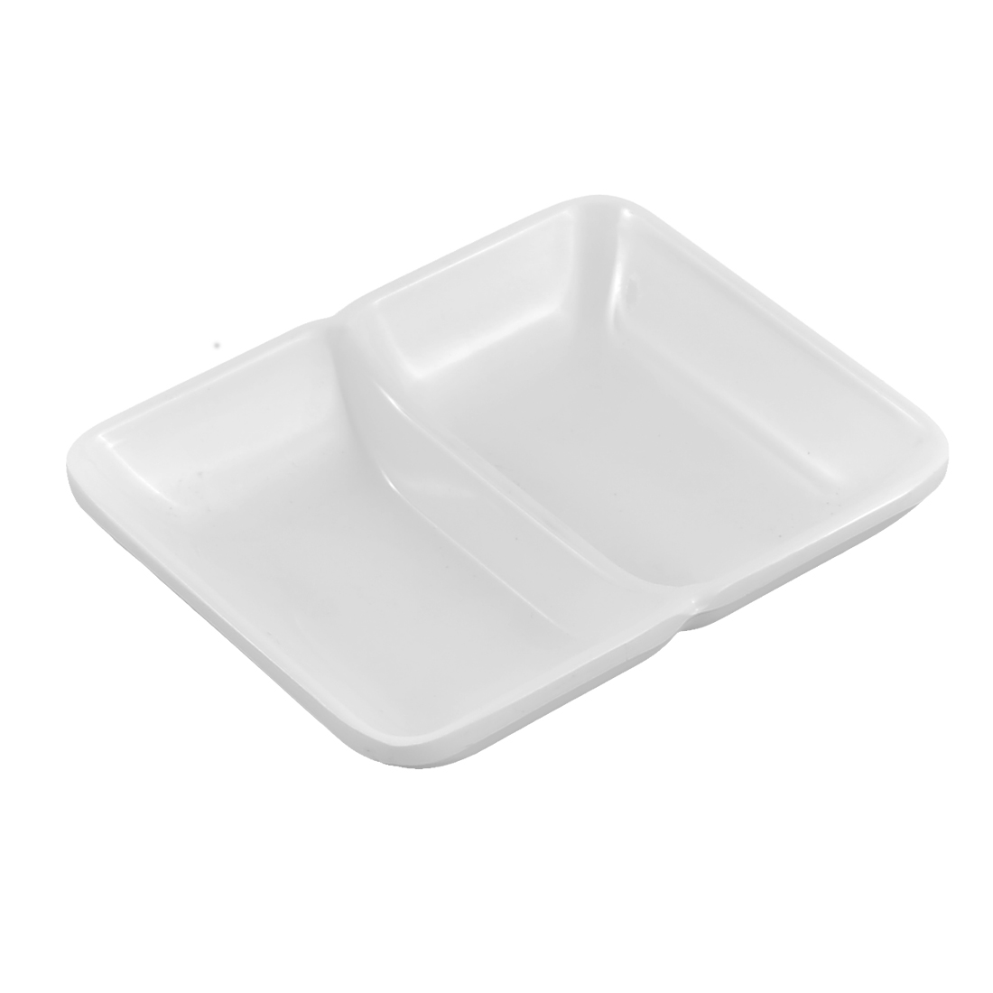Restaurant 2 Compartments Sushi Soy Sauce Wasabi Dipping Dish Plate