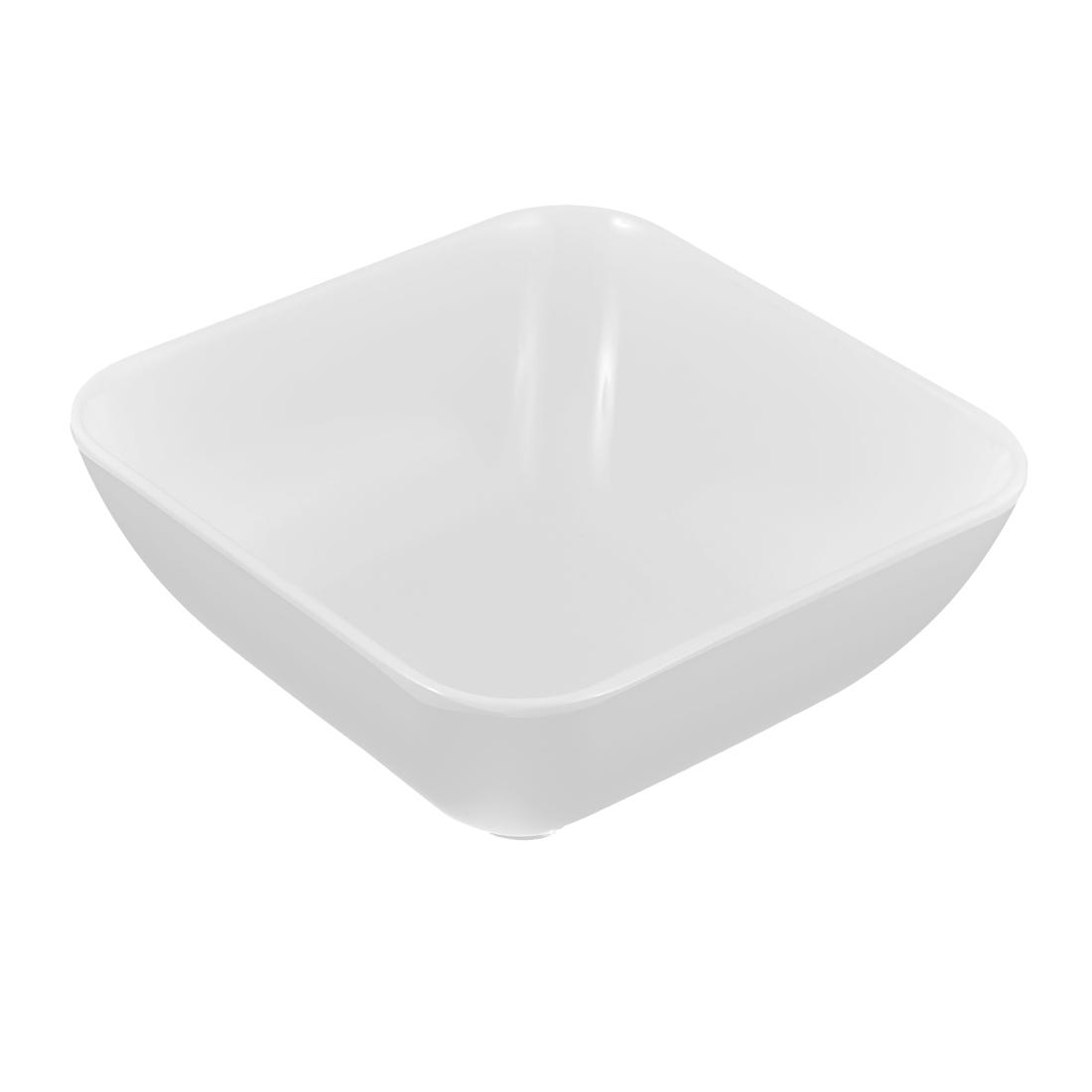 Tableware Square Design Food Porridge Congee Rice Bowl Container Holder White