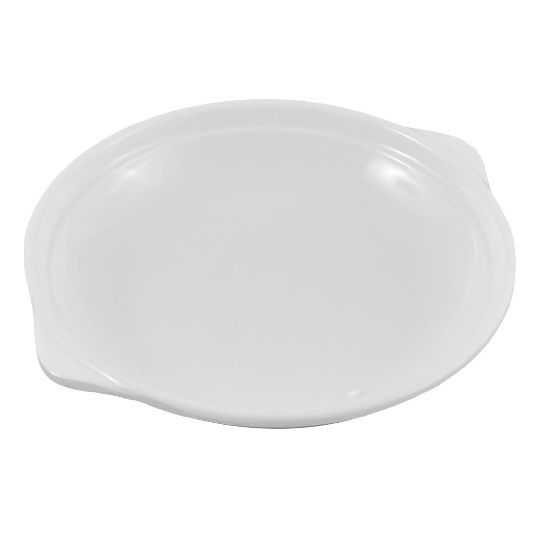 Restaurant Home Kitchen Plastic Double Ear Handles Design Dish Plate 5 Inch Dia