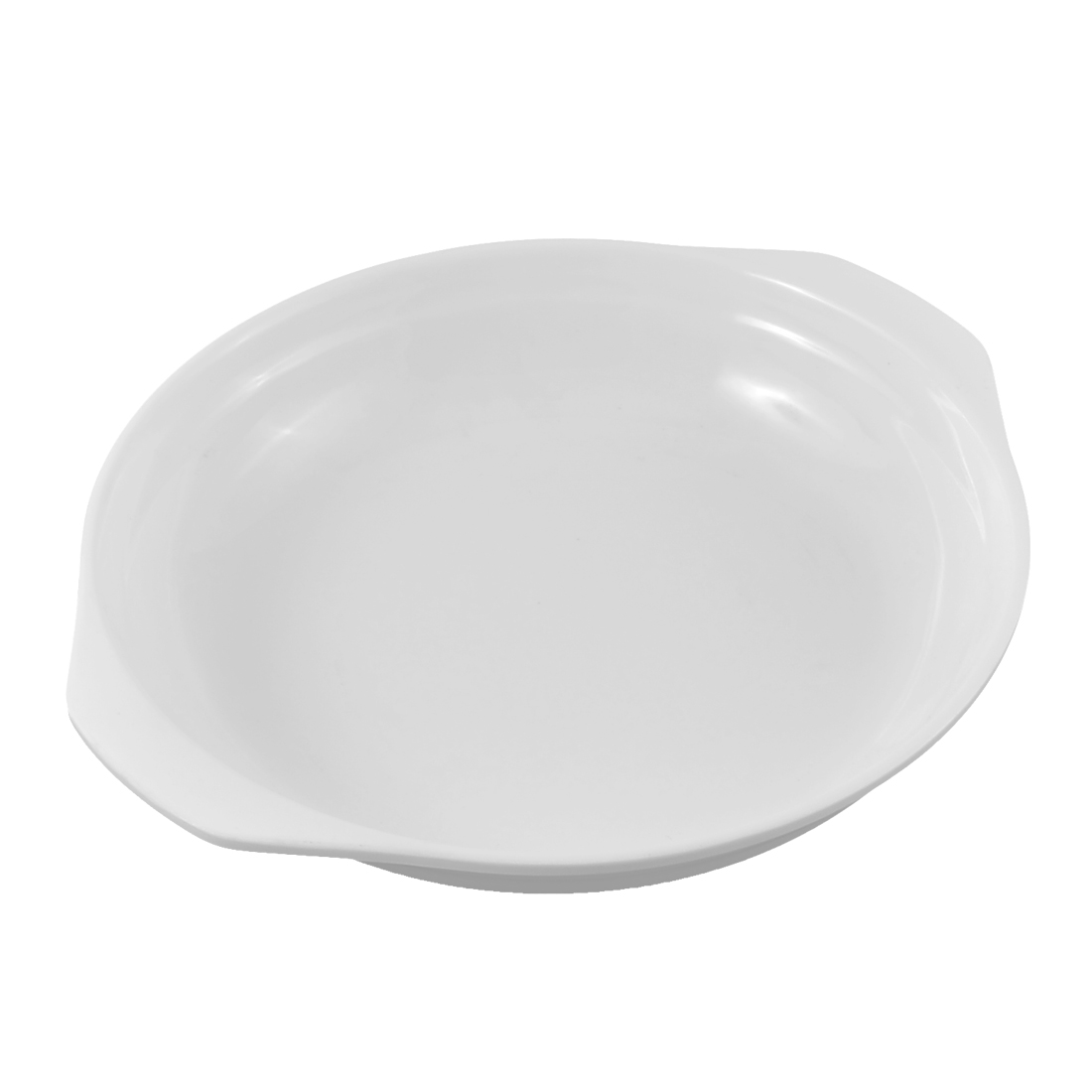 "Restaurant Home Kitchen Plastic Dual Ear Handles Dish Plate White 7"" Dia"