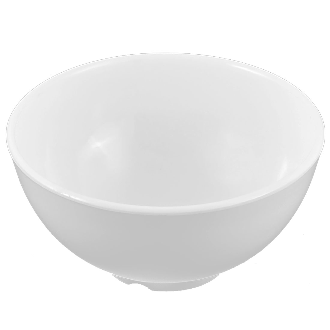 Household Kitchen Plastic Soup Porridge Food Rice Bowl White 11.5cm Dia