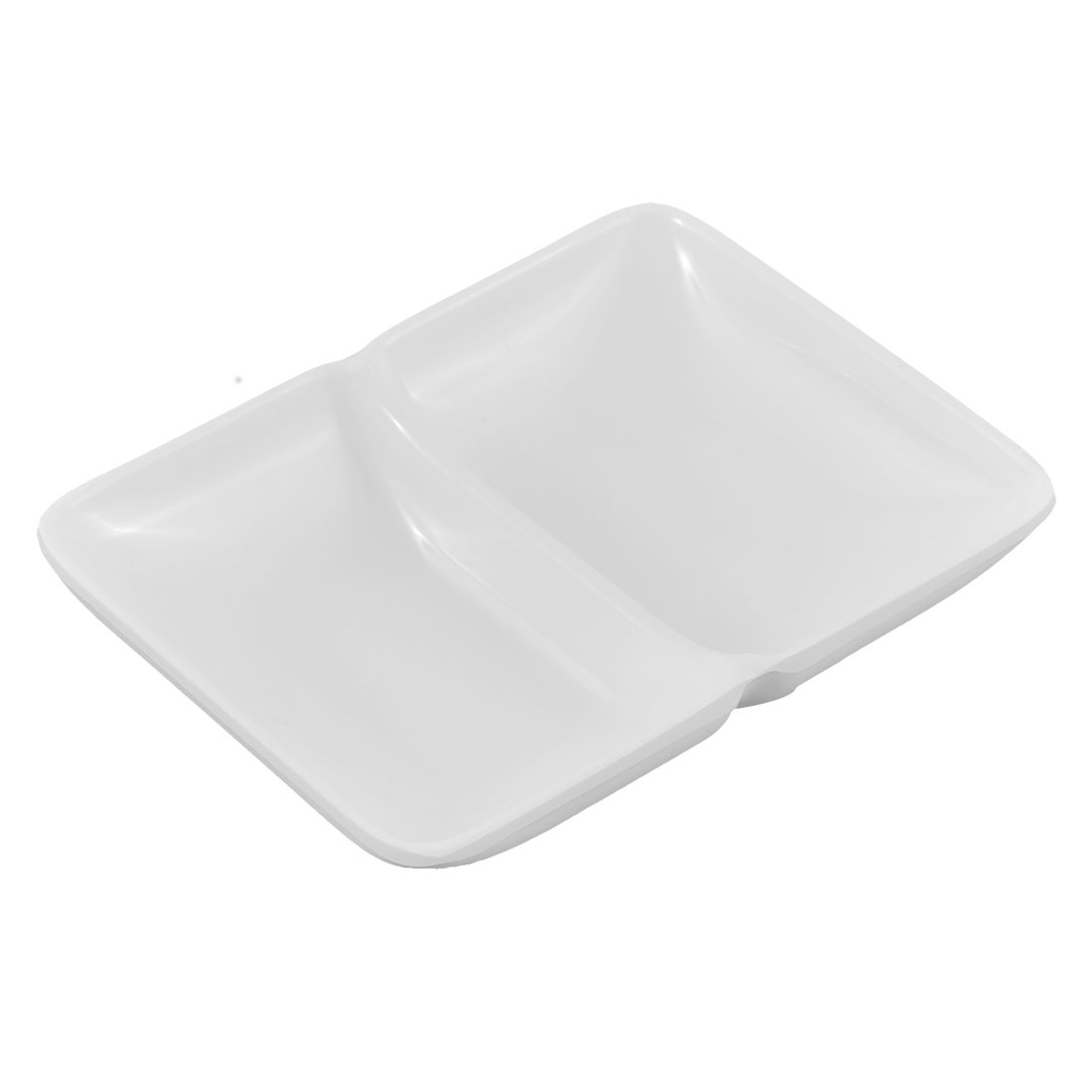 Restaurant Plastic 2 Compartments Sushi Soy Sauce Wasabi Dipping Dish Plate