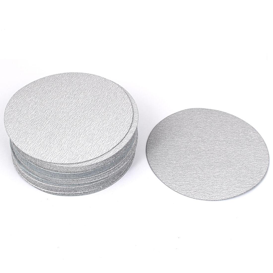"6"" Dia Polishing Round Dry Abrasive Sanding Sandpaper Sheet Disc 240 Grit 50 Pcs"