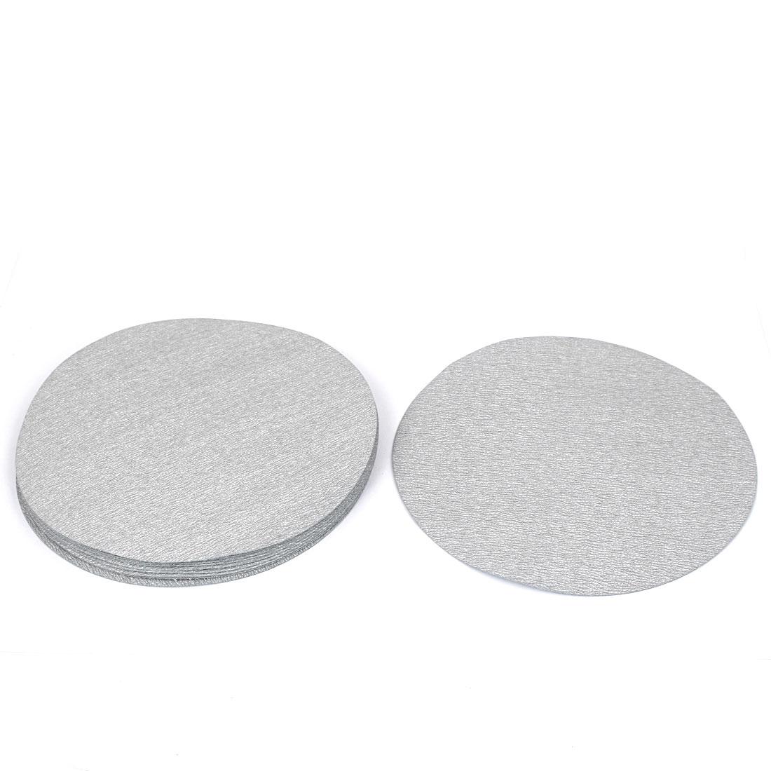 7inch Dia Round Dry Abrasive Sanding Flocking Sandpaper Disc 800 Grit 10pcs