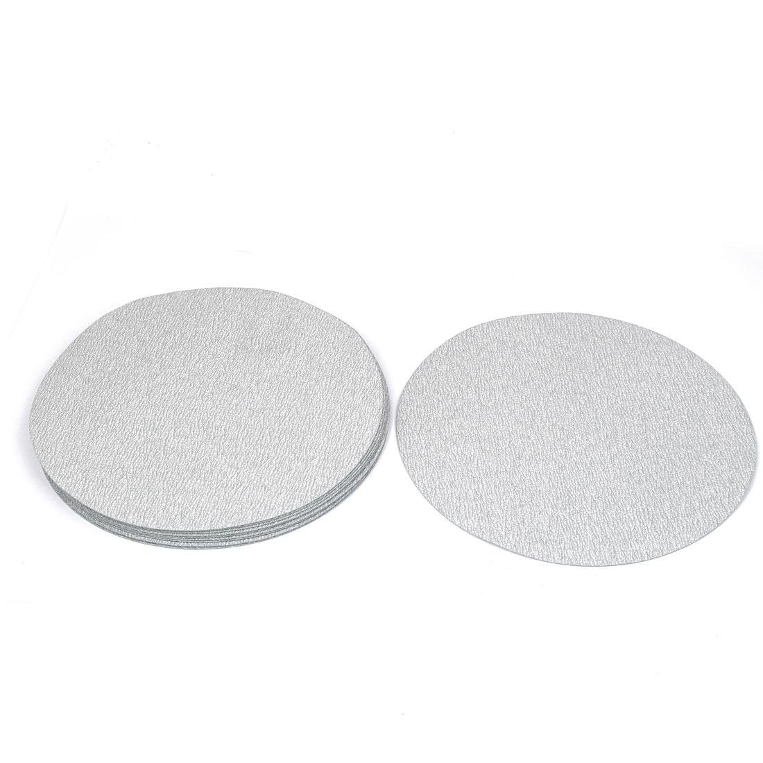 "7"" Dia Polishing Round Dry Abrasive Sanding Sandpaper Sheet Disc 600 Grit 10 Pcs"
