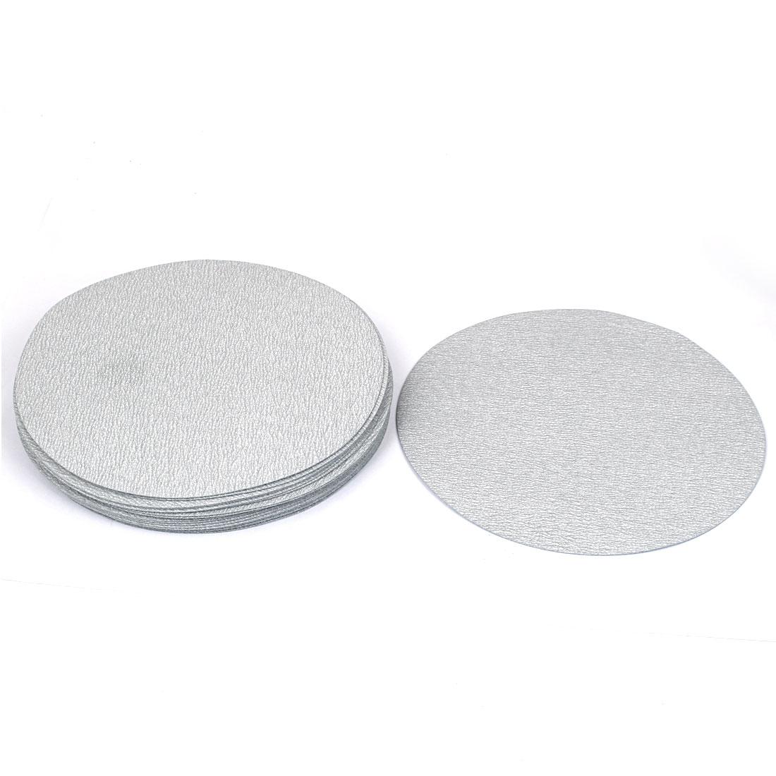 "7"" Dia Polishing Round Dry Abrasive Sanding Sandpaper Sheet Disc 600 Grit 20 Pcs"