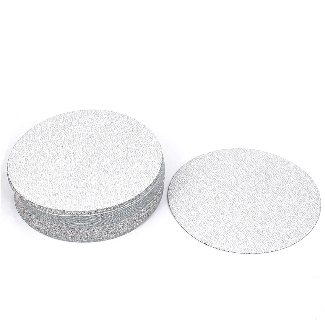 "7"" Dia Polishing Round Dry Abrasive Sanding Sandpaper Sheet Disc 180 Grit 50pcs"