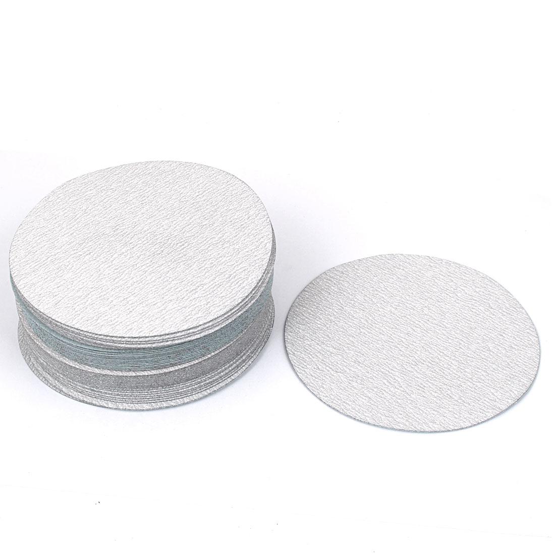 6inch Dia Round Dry Abrasive Sanding Flocking Sandpaper Disc 320 Grit 50pcs