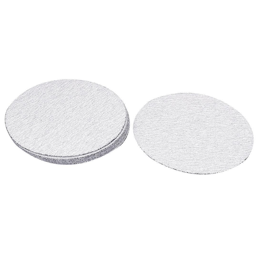 "6"" Dia Polishing Round Dry Abrasive Sanding Sandpaper Sheet Disc 80 Grit 10 Pcs"