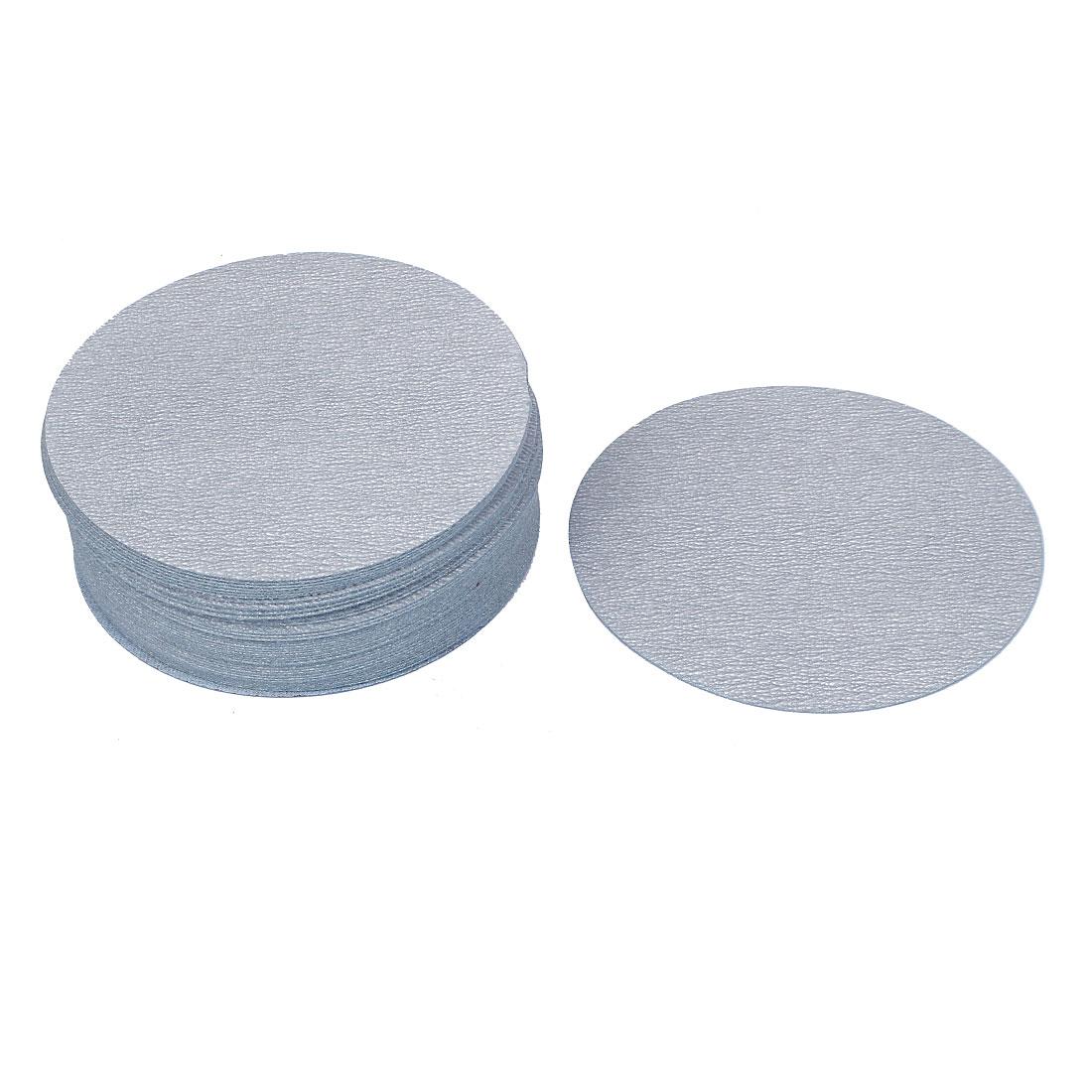 "5"" Dia Polishing Round Dry Abrasive Sanding Sandpaper Sheet Disc 600 Grit 50pcs"
