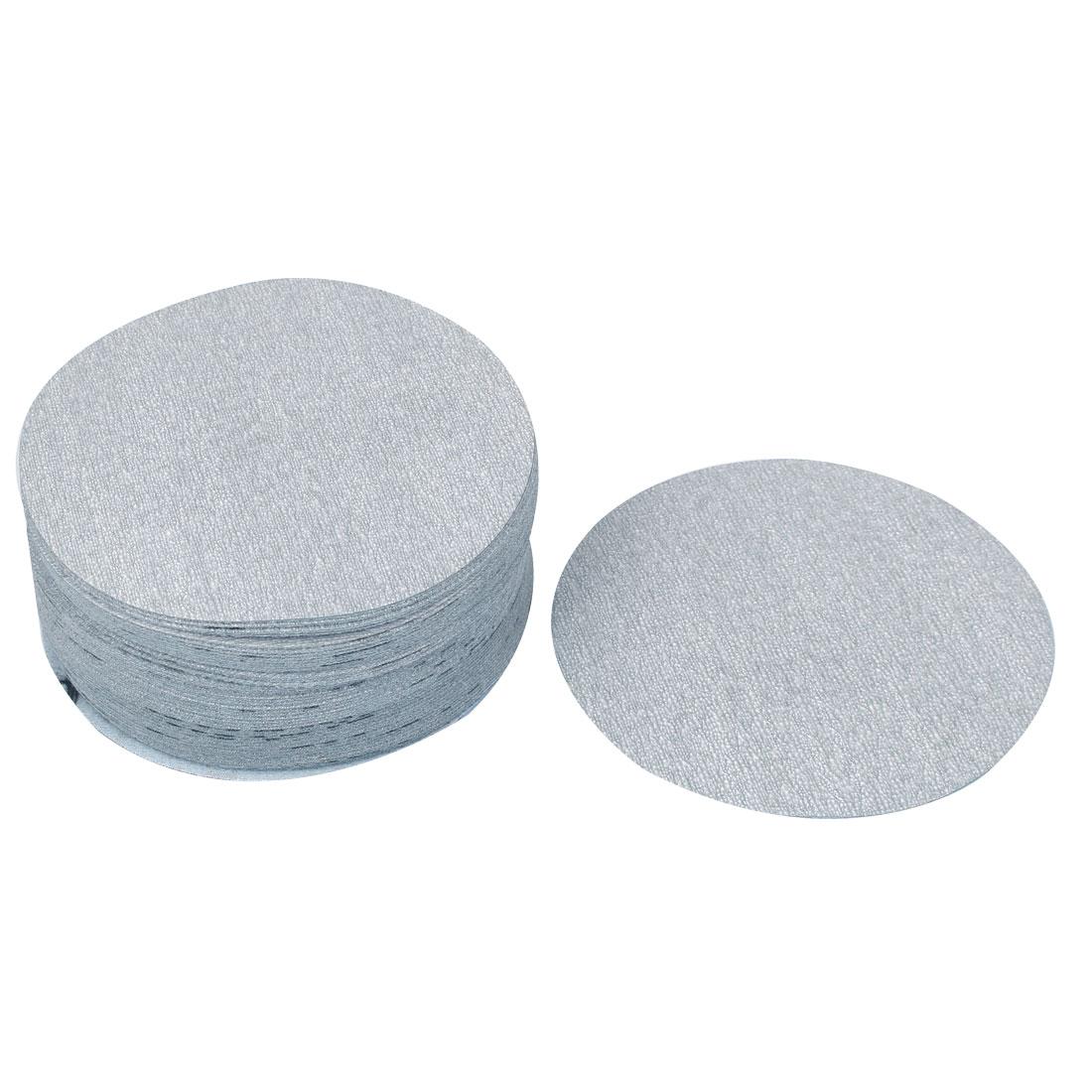 5inch Dia Round Dry Abrasive Sanding Flocking Sandpaper Disc 1000 Grit 50pcs