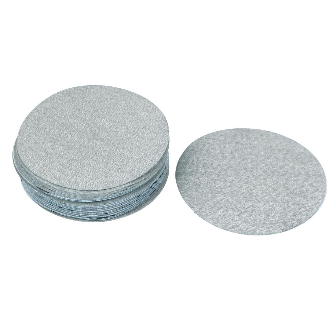 "5"" Dia Polishing Round Dry Abrasive Sanding Sandpaper Sheet Disc 1000 Grit 30pcs"